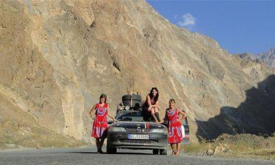 Konstanze Wellein, Stefanie Schädel und Kerstin Krapohl aus Regensburg nahmen an der Tajik-Rallye
