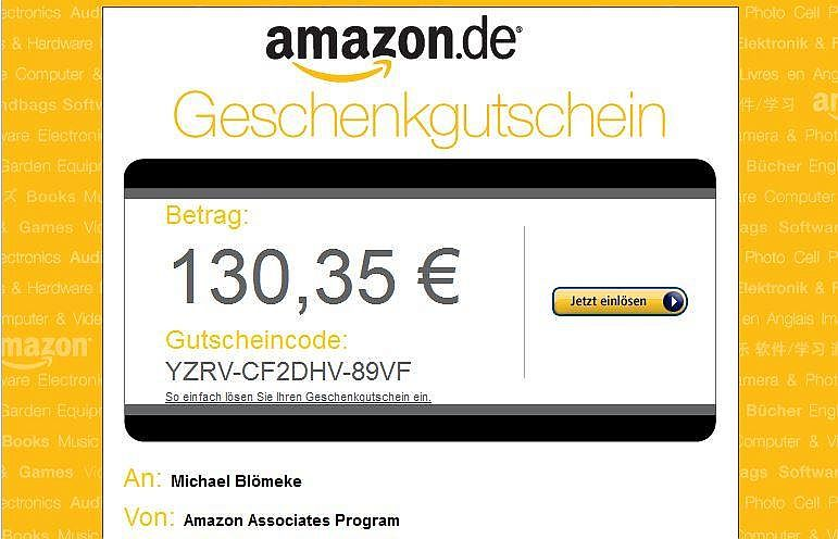 Amazon Associates Program Affiliate Gutschein