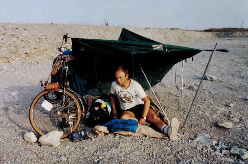 Heinz an seinem Nachtlager in Kasachstan