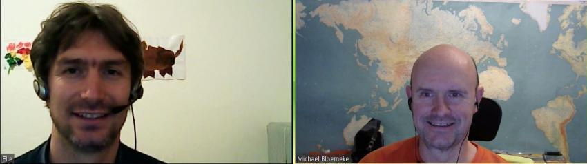 Elie und Mitch beim Interview